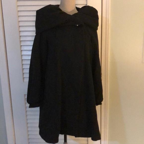 Zara black wrap cost huge hood Small
